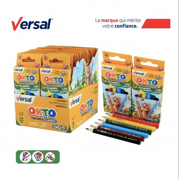 Crayon De Couleur 6 PM VERSAL Réf-114008