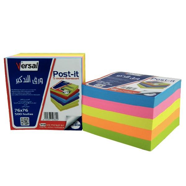 POST-IT MULTICOLOR Versal 76X76 Réf-VR808