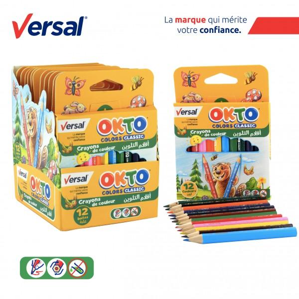 Crayon De Couleur 12 GM VERSAL Réf-114005