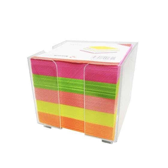 Bloc papier cube plastique 85X85