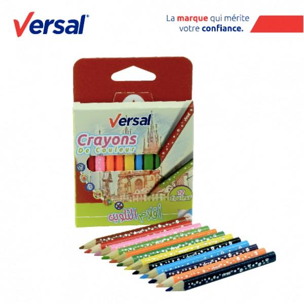 Crayon De Couleur Triangulaire 12 PM VERSAL Réf-VR721