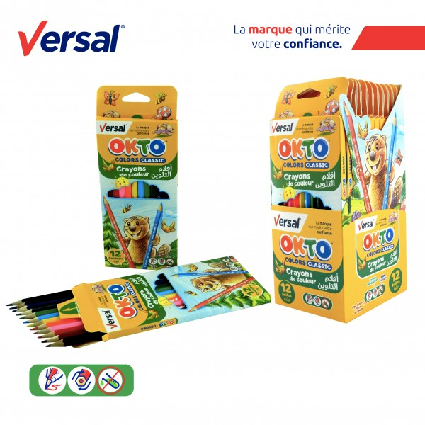 Crayon De Couleur 12 PM VERSAL Réf-114004