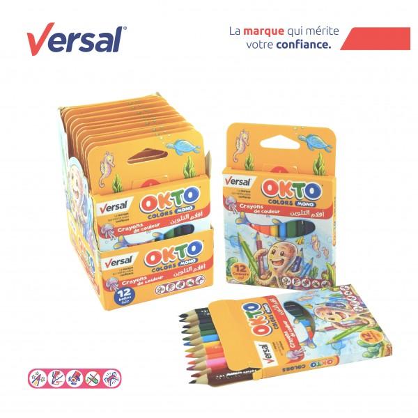 Crayon De Couleur Triangulaire 12 PM VERSAL Réf-114003